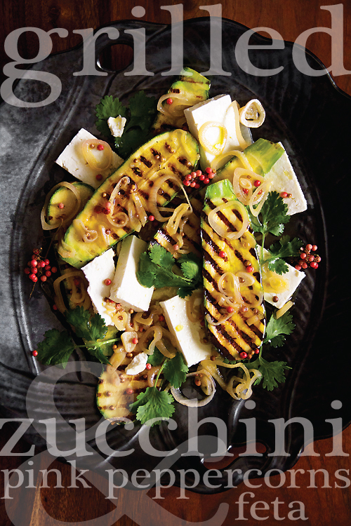 Grilled Salad with Zucchini & Feta