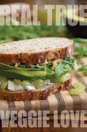 ... Cheese, Celery and Avocado Sandwich with Walnut Butter and Arugula