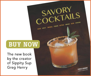 Buy Greg Henry's book Savory Cocktails here