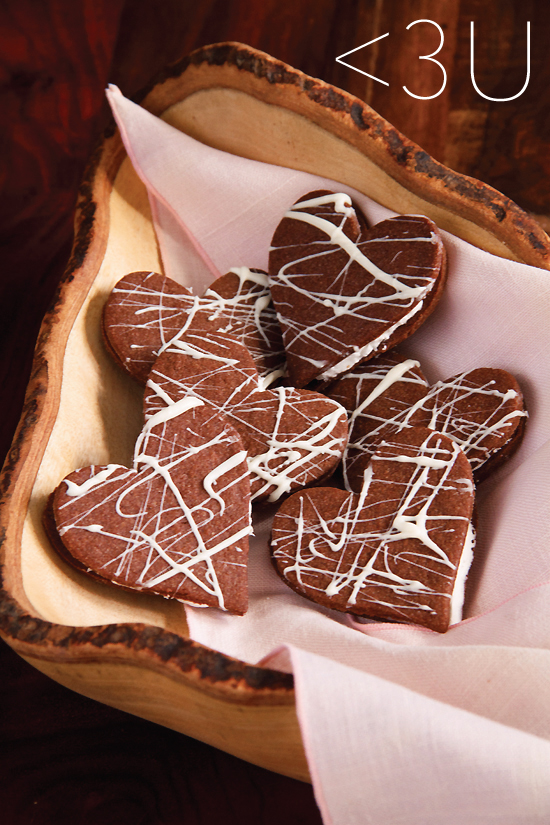 SippitySup Heart-Shaped Chocolate Sandwich Cookies - SippitySup