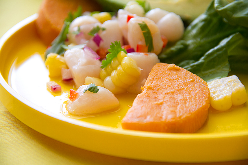 Peruvian Ceviche with Scallops and Rocoto Chiles