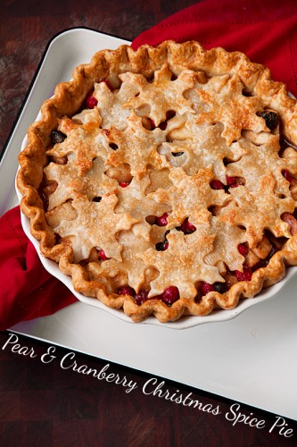 Pear and Cranberry Christmas Spice Pie