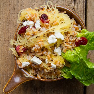 Spaghetti Squash and Farro Salad
