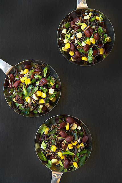 Wild Rice and Beans Salad with Fresh Corn and Poblanos ...