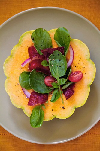 Zatta Melon Salad with Watercress and Prosciutto
