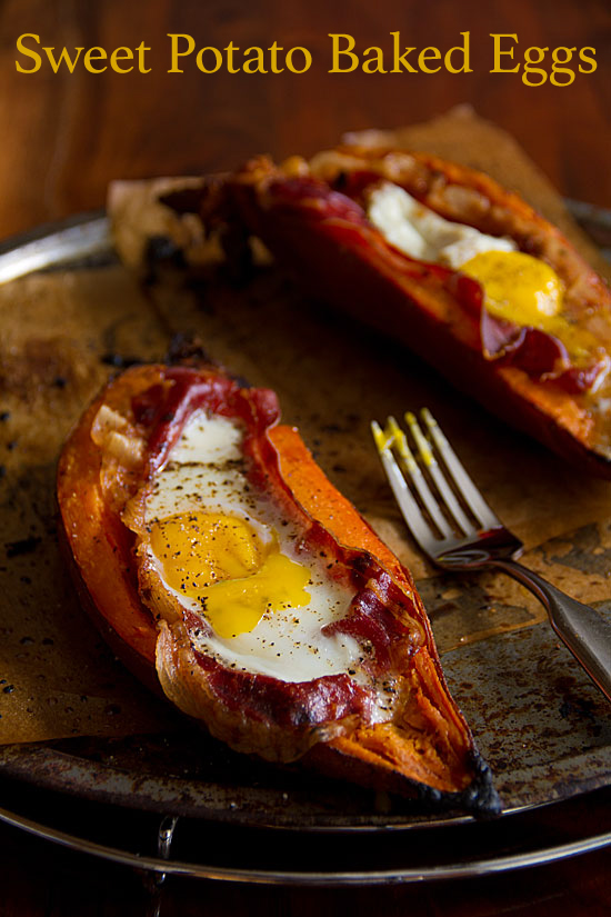Roasted Sweet Potatoes, Gorgonzola And Baked Eggs Recipe ...