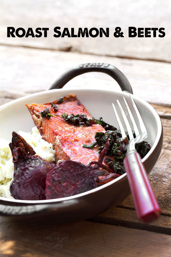 Roast Salmon and Beets