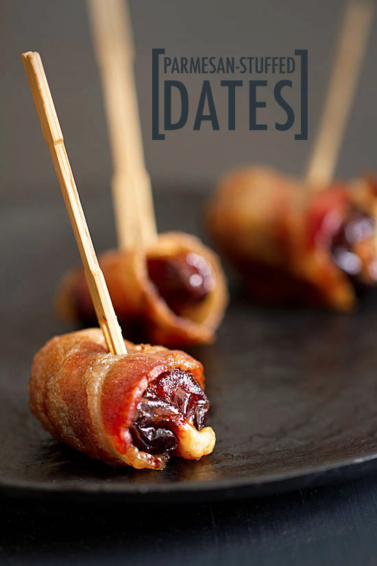 Holiday Bites: Parmesan Stuffed Dates Wrapped in Bacon - SippitySup
