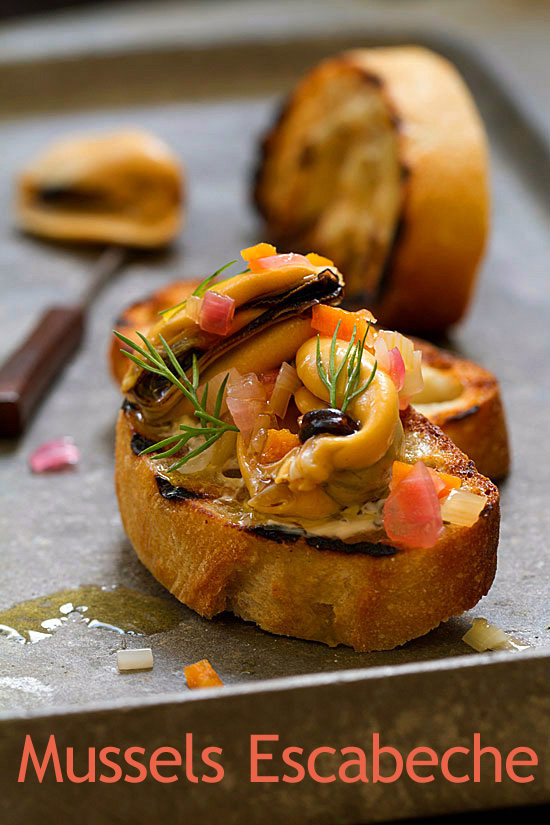 Mussels Escabeche from The Basque Book