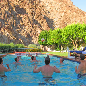 volleyball in the pool at la quinta
