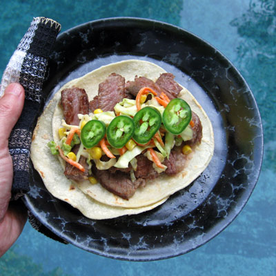 beef Taco with chipotle slaw