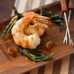 Spict Alaskan Spot Prawns with Fried Basil