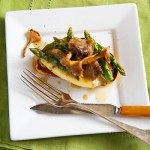 Open-Face Chanterelle, Asparagus and Brie Sandwich