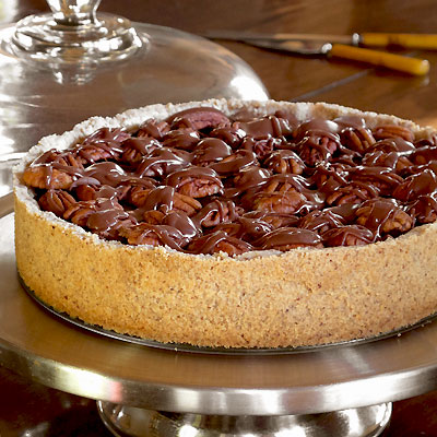 am in such a good mood I thought I'd make a Chocolate Pecan Tart.
