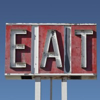 Vintage EAT sign
