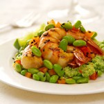Warm Edamame and Shrimp Salad