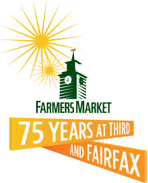 original farmers market 75 years logo