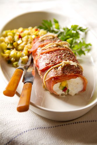 Good Looking Prosciutto-Wrapped Halibut - SippitySup