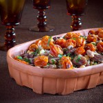 Marinated shell beans with roasted tomatoes