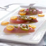 Home  Yellowtail Crudo With Kumquats &amp; Jalapeo