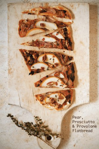 Pear, Prosciutto &amp; Provolone Flatbreads with Candied Pecans