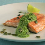 salmon with pepito pesto