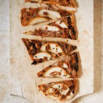 Pear, Prosciutto &amp; Provolone Flatbread with Candied Pecans
