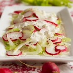 Celery Radish Salad with Homemade Blue Cheese Dressing