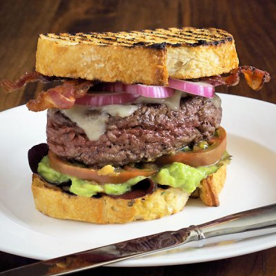 Bacon Guacamole Cheeseburger