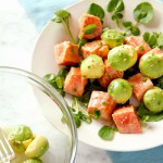 Marinated Wild Alaskan Salmon and Avocado Salad with Watercress