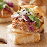 Asian Spiced Salmon Sliders with Soy Mayo &amp; Spicy Slaw