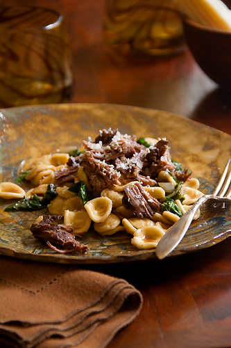 Cabernet Braised Short Ribs with Swiss Chard and Orecchiette