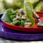 Bay Shrimp and Sugar Snap Pea Lettuce Wraps