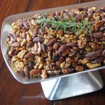 Spicy Nuts with Fried Garlic, Shallots & Rosemary
