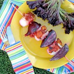 Sippity Sup&#039;s Scallop Kabobs with Beets &amp; Prosciutto