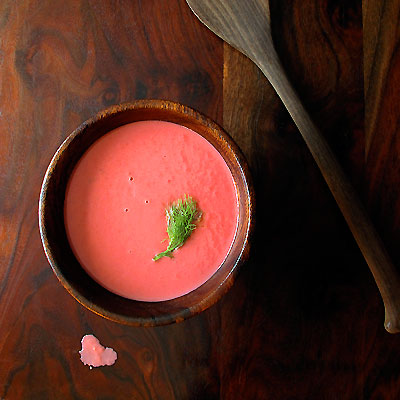 Chilled Beet &amp; Fennel Soup with Snfrisk