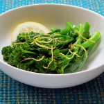 Broccolini with fried lemon zest