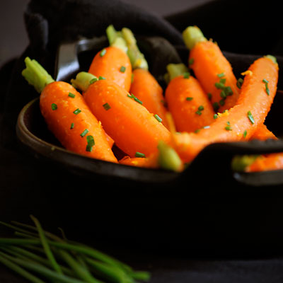 carrots with chives
