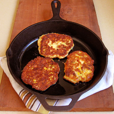 Cheddar cheese pancakes
