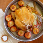 Roast Chicken with Honey Rosemary Plums
