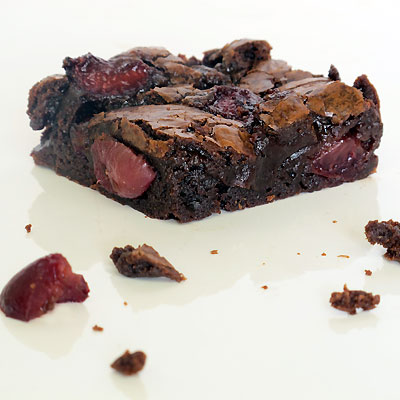 Bittersweet Chocolate-Cherry Brownies makes 16 CLICK here for a ...