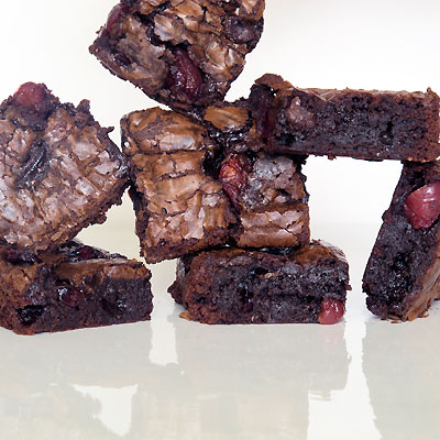Bittersweet Chocolate-Cherry Brownies