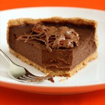 Triple Chocolate Pumpkin Tart with a Pecan Crust