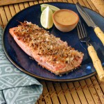 Coconut-Crusted Salmon with Coconut Chili Sauce