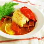 Cod Stew with Pimenton &amp; Chorizo from sippity sup