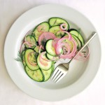 cucumber salad with vinegar and red onion