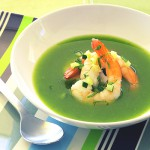cucumber soup with shrimp