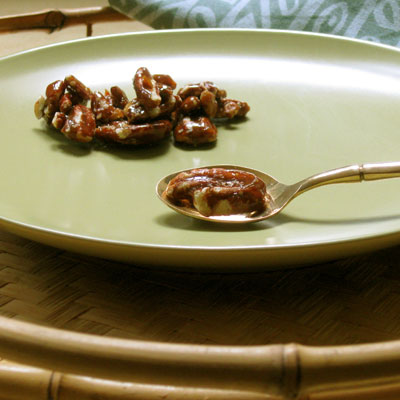 Curried Maple Pecans