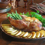 Roasted Duck with Apples, Honey & Cider Vinegar