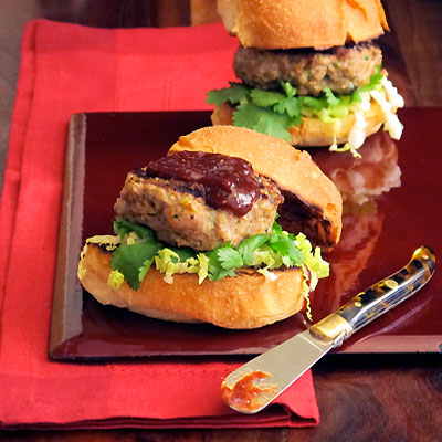duck sliders with fig ketchup